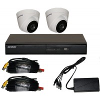 2 Camera Full HD CCTV Kit with 2TB HIKVision Recorder and 40 metre NightVision
