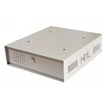 Lockable vented Steel Case for housing CCTV - White