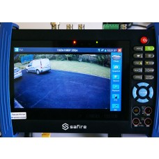"All-in-One CCTV Tester for TVI, CVI, AHD, CVBS and IP cameras with 7"" Touchscreen"