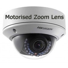 HIKVision DS-2CD2722FWD-IZ(S) 2MP Motorised Vandal Resistant Dome IP Network Camera with 30m IR