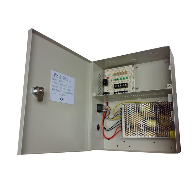 5 Amp 5 Way CCTV Power Supply