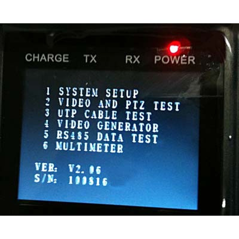 CCTV Tester with PTZ Control and 12 Volts Out
