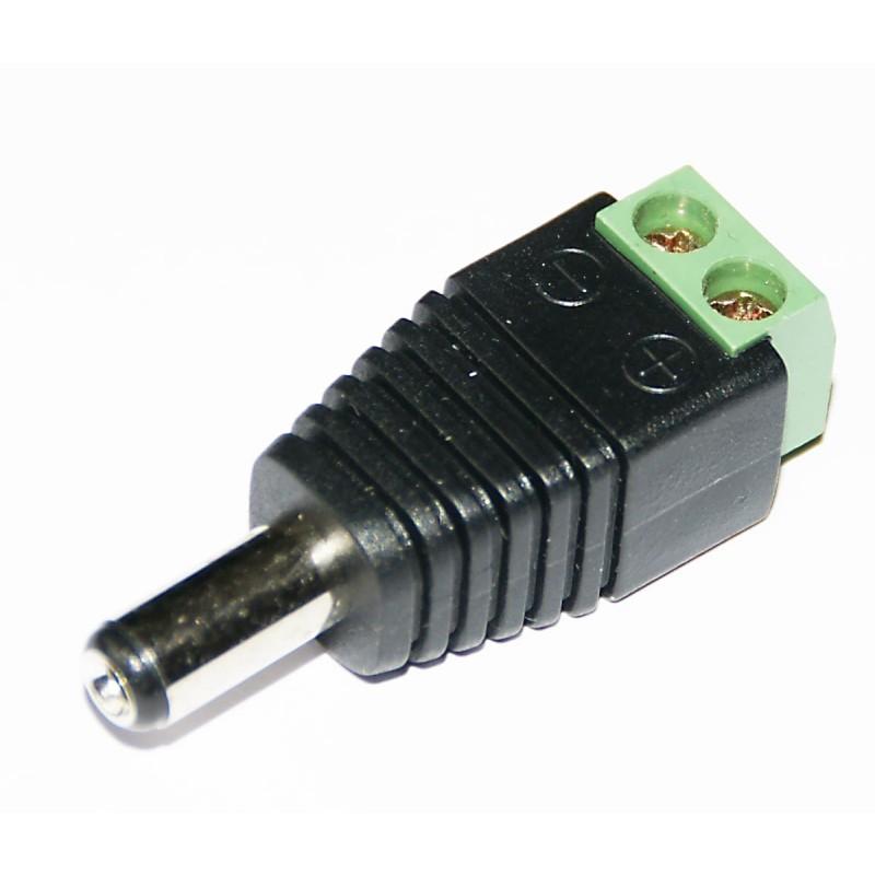 Male DC Plug For CCTV Cameras