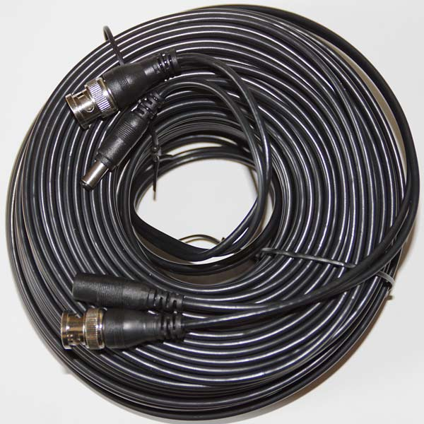 40metre BNC & Power Cable for CCTV Cameras with DC Plugs3