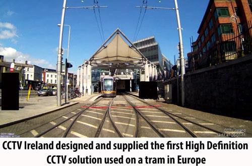 CCTV Ireland First HD CCTV on Tram in Europe
