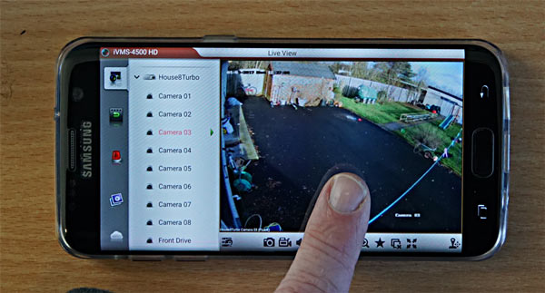 iVMS-4500 Mobile App Full Single Camera Sample Image HIKVision