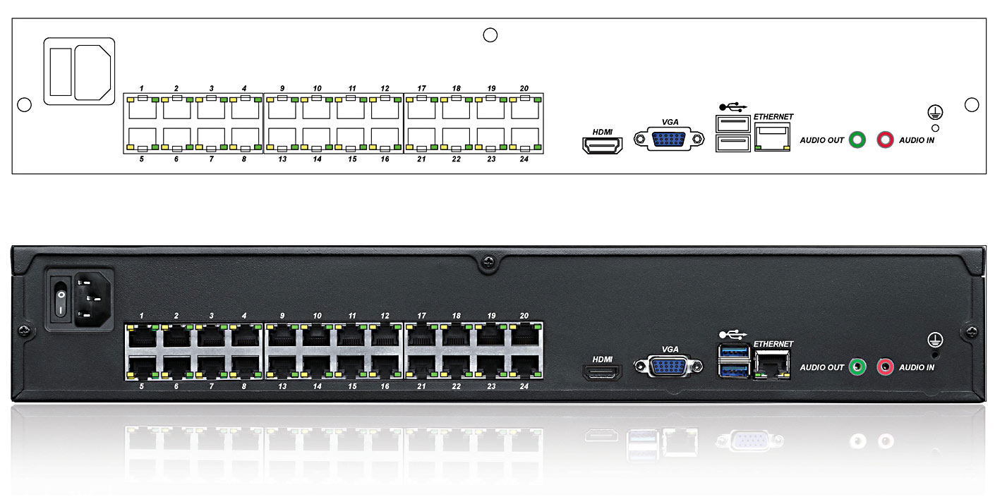 Genisys 24 Channel Nvr With 24 Ports Poe Qvis Ip Network