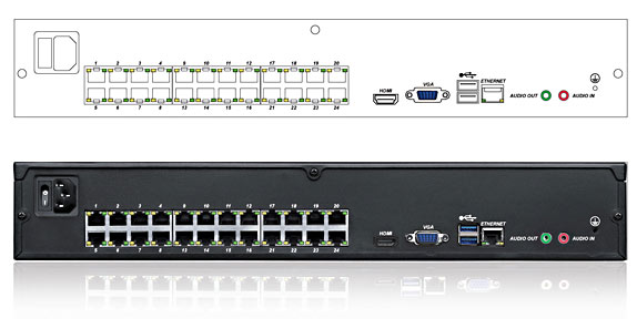 QVIS Genisys 24 Port PoE NVR Rear Panel
