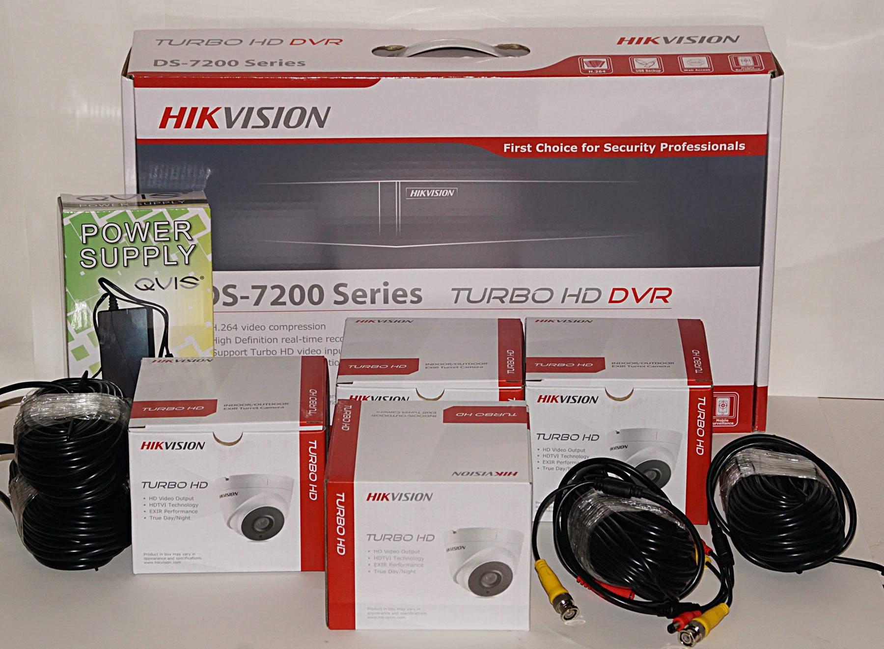 4 Camera Full HD CCTV Kit from HIKVision, the world leaders in CCTV