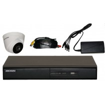 1 Camera CCTV Kit with 4 channel HIKVision HD Recorder