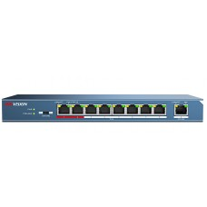 DS-3E0109P-E 8 Port PoE switch with Gigabit Uplink
