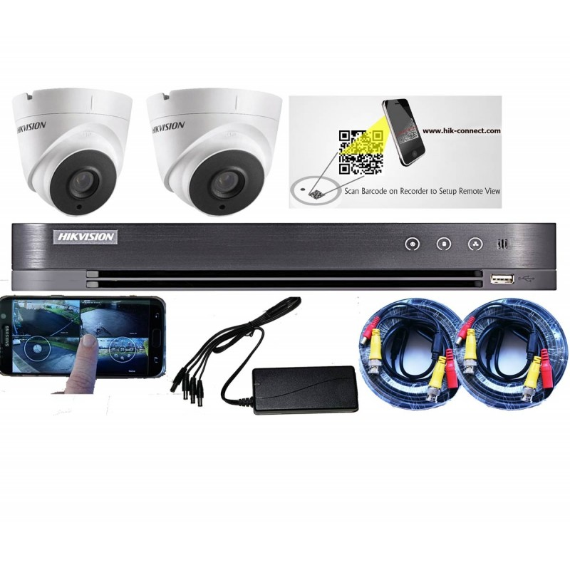 2 Camera CCTV Kit with 5MP HD from HIKVision