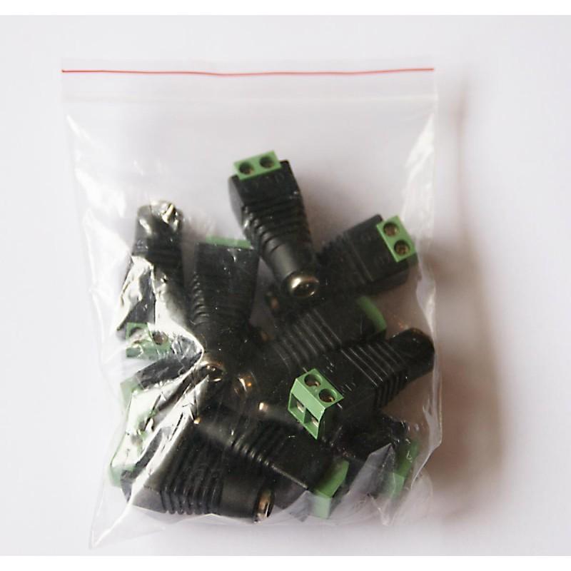 Female DC Power Plug for CCTV Cameras 10 Pack
