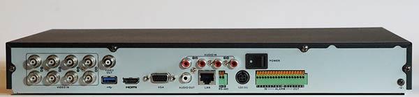 DS-7208HUHI-F2-N Rear Panel